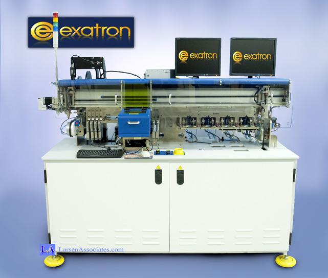 Exatron Serialization Smart Queue IC device handler automatic test pick and place