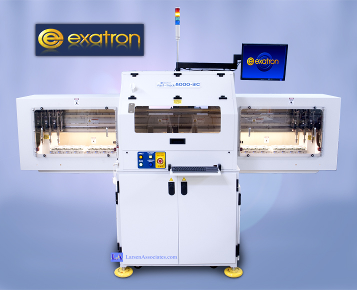 Exatron Programmer IO E8000-3D Data PSV7000 test handler Elnec Dataman trays stackers high speed high capacity kitless kit-less Data I/O Larsen Associates