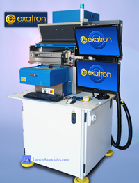 Exatron laser marker with inspection of ICs and laser mark