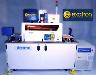 Exatron handler Laser Marker Magazine in and Out