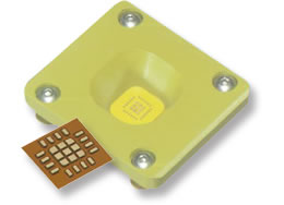 Hi Frequency RF Kapton interposer socket Aries Larsen Associates