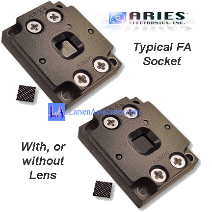 FA Failure Analysis ic test socket with lens or no lens