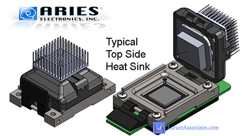 Typical top side heat sink custom amde to suit your needs from Aries