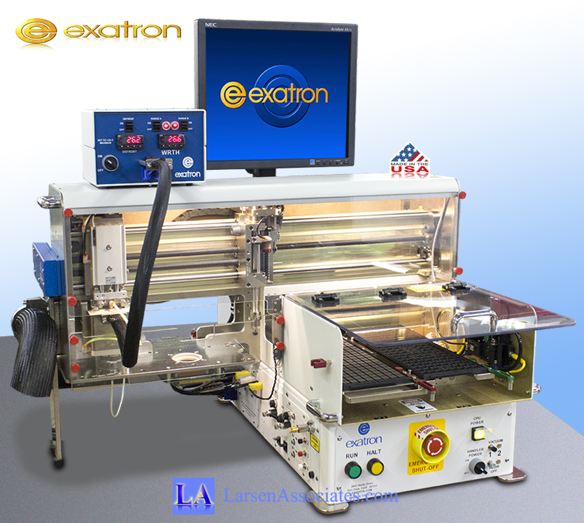 Exatron Mini Desktop IC Handler for Lab use ATE with single site, single thermal head, dual trays