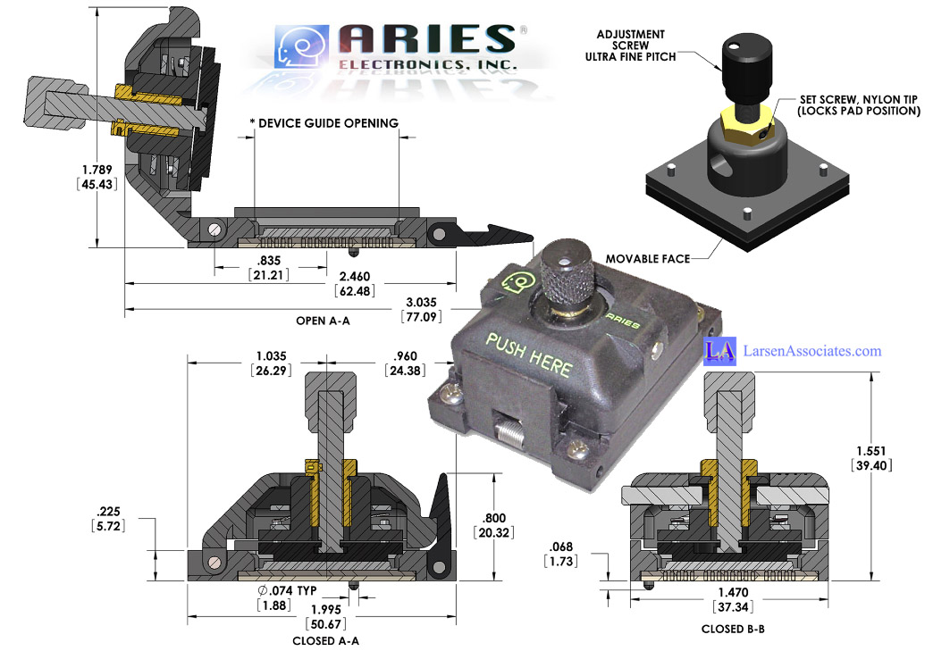 Adjustable Pressure Test Socket CSP Aries Larsen Associates